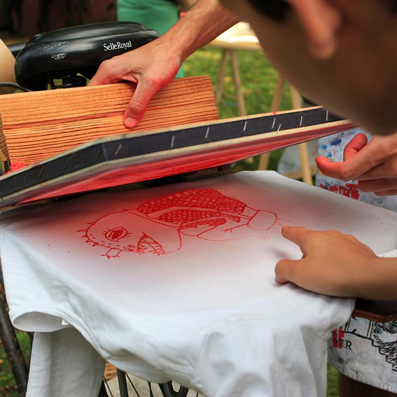 Workshop: Serigraphy with Diogo DeCalle